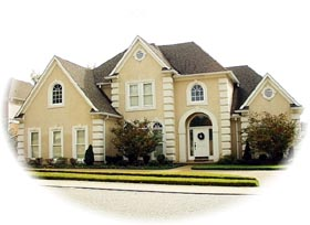 European House Plan 46749 with 3 Beds, 3 Baths, 2 Car Garage Elevation
