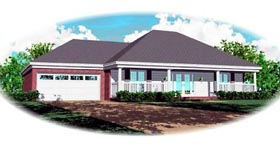 Country House Plan 46750 Elevation