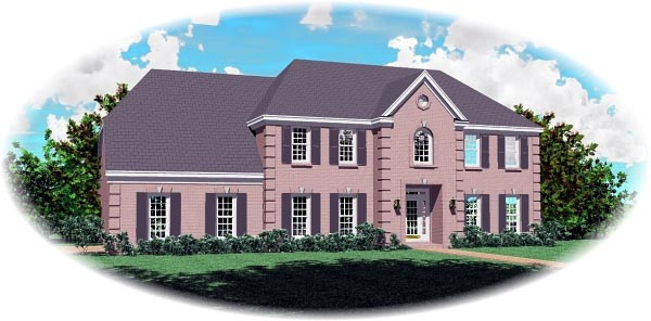 House Plan 46753 Elevation