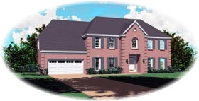 House Plan 46754 Elevation
