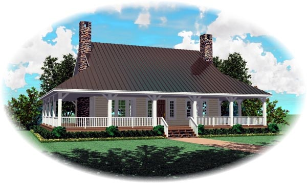 Country House Plan 46756 Elevation