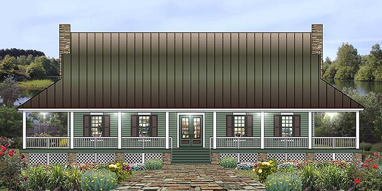 Country House Plan 46757 Elevation
