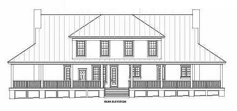 Country House Plan 46757 Rear Elevation