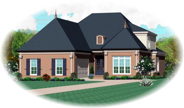 House Plan 46763 Elevation