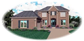 Colonial House Plan 46766 Elevation