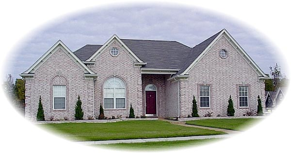 House Plan 46769 | European Style Plan with 2079 Sq Ft, 3 Bedrooms, 2 Bathrooms, 2 Car Garage Elevation