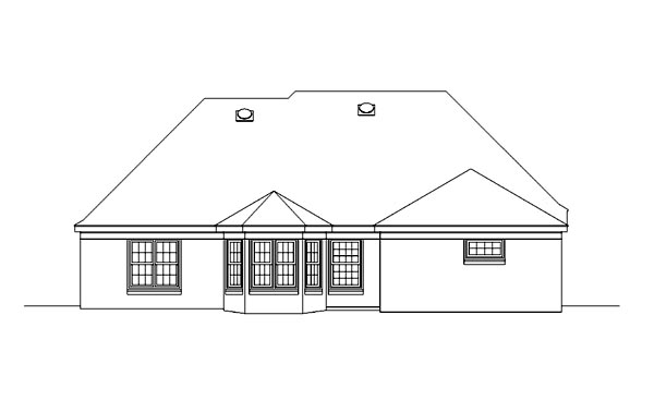 Traditional House Plan 46770 Rear Elevation