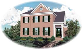 Colonial House Plan 46771 Elevation
