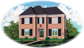 House Plan 46776 with 3 Beds, 3 Baths, 2 Car Garage Elevation