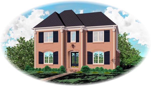 House Plan 46776 Elevation