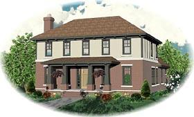 Craftsman House Plan 46777 Elevation