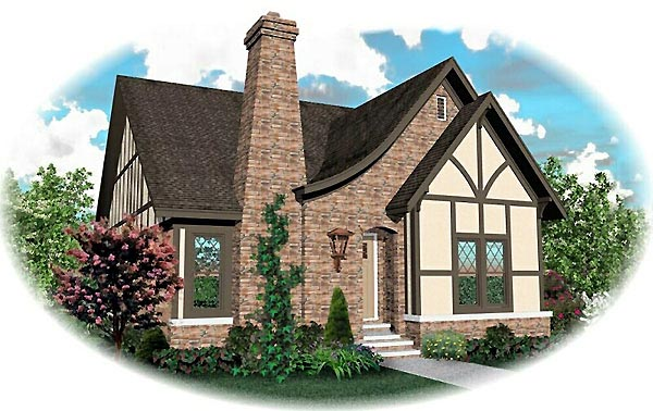 House Plan 46778 with 3 Beds, 4 Baths, 2 Car Garage Elevation
