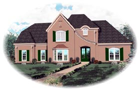 Tudor House Plan 46779 Elevation