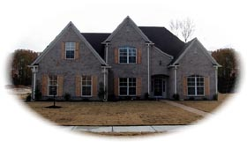Tudor House Plan 46782 Elevation
