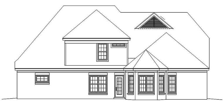 Tudor House Plan 46782 Rear Elevation