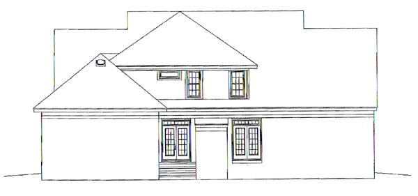 Cape Cod House Plan 46786 Rear Elevation