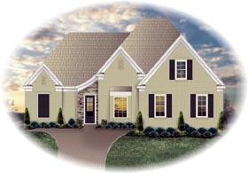 House Plan 46790 Elevation