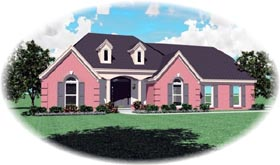 House Plan 46797 | Traditional Style House Plan with 2485 Sq Ft, 3 Bed, 2 Bath, 2 Car Garage Elevation