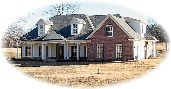 House Plan 46800 with 4 Beds, 4 Baths, 3 Car Garage Elevation