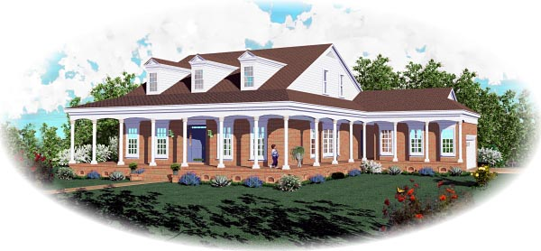 Country Traditional House Plan 46806 Elevation