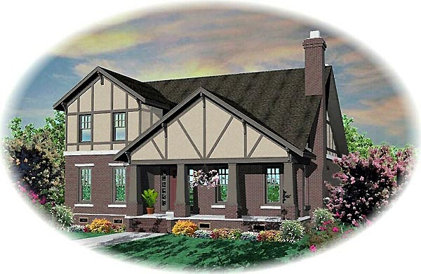 Tudor House Plan 46807 Elevation