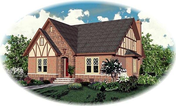 Tudor House Plan 46808 Elevation