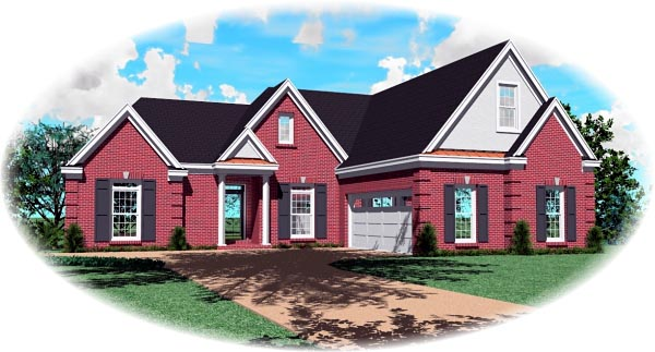 Traditional House Plan 46810 Elevation
