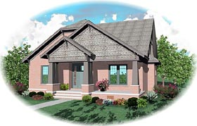 House Plan 46812 | Craftsman Style House Plan with 3018 Sq Ft, 3 Bed, 3 Bath, 2 Car Garage Elevation
