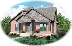 Craftsman House Plan 46812 Elevation