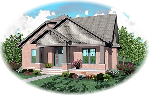 Craftsman House Plan 46812 Elevation