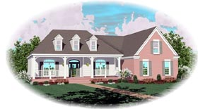 House Plan 46817 | Traditional Style Plan with 2180 Sq Ft, 3 Bedrooms, 2 Bathrooms, 2 Car Garage Elevation