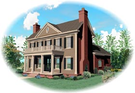Colonial House Plan 46818 Elevation