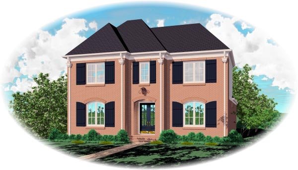 European House Plan 46820 Elevation