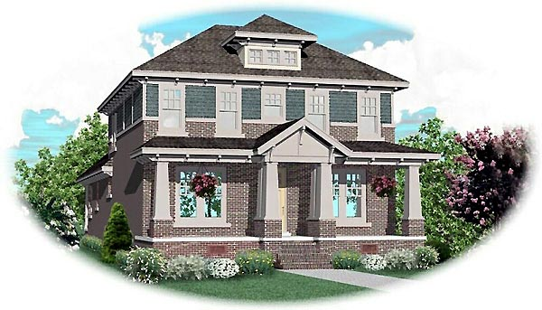 Craftsman House Plan 46821 Elevation