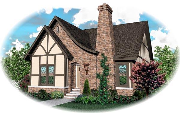 House Plan 46822 Elevation