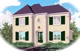 European House Plan 46823 Elevation