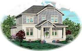 Craftsman House Plan 46825 with 3 Beds, 4 Baths, 2 Car Garage Elevation