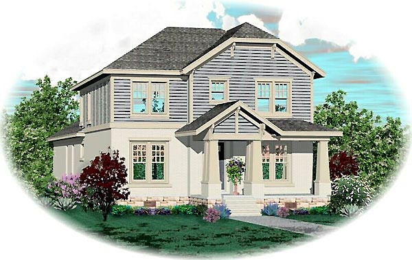Craftsman House Plan 46825 Elevation