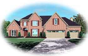 Traditional House Plan 46830 Elevation