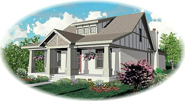 Craftsman House Plan 46831 Elevation