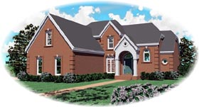 Traditional House Plan 46833 Elevation