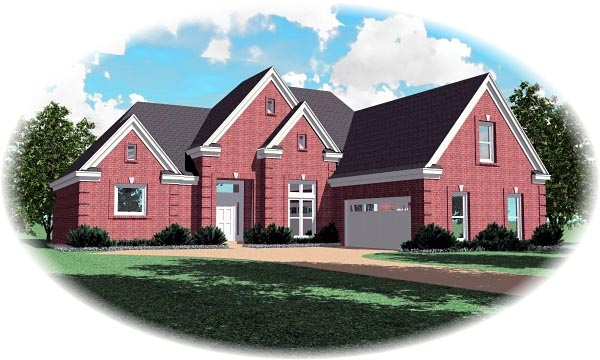 Traditional House Plan 46835 Elevation