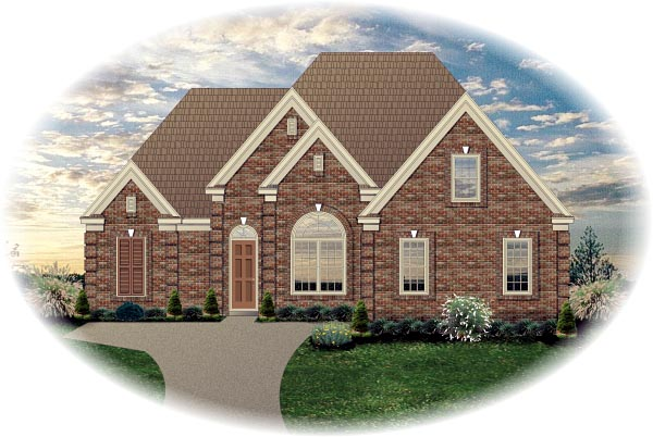 House Plan 46837 Elevation