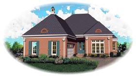 European House Plan 46844 Elevation