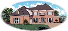 House Plan 46848 | Traditional Style Plan with 2775 Sq Ft, 3 Bedrooms, 3 Bathrooms, 3 Car Garage Elevation