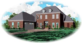 Traditional House Plan 46849 Elevation