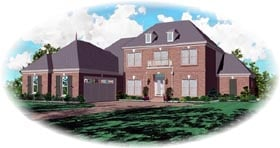 Traditional House Plan 46850 Elevation