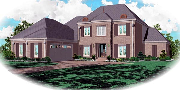 Traditional House Plan 46852 Elevation