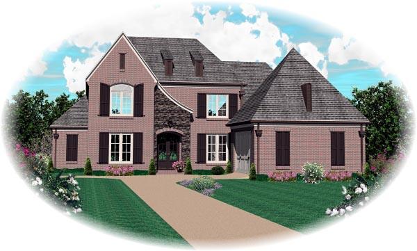 Tudor House Plan 46853 Elevation