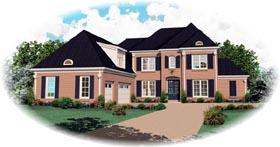 European House Plan 46854 Elevation